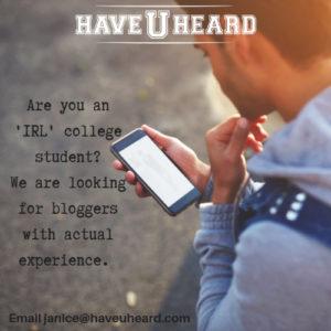 student blogger HUH