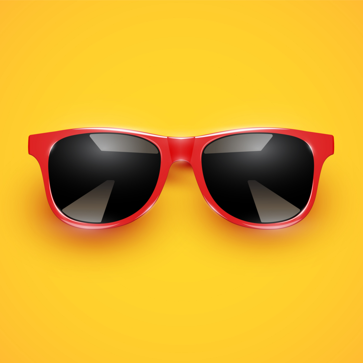 huh sunglasses red
